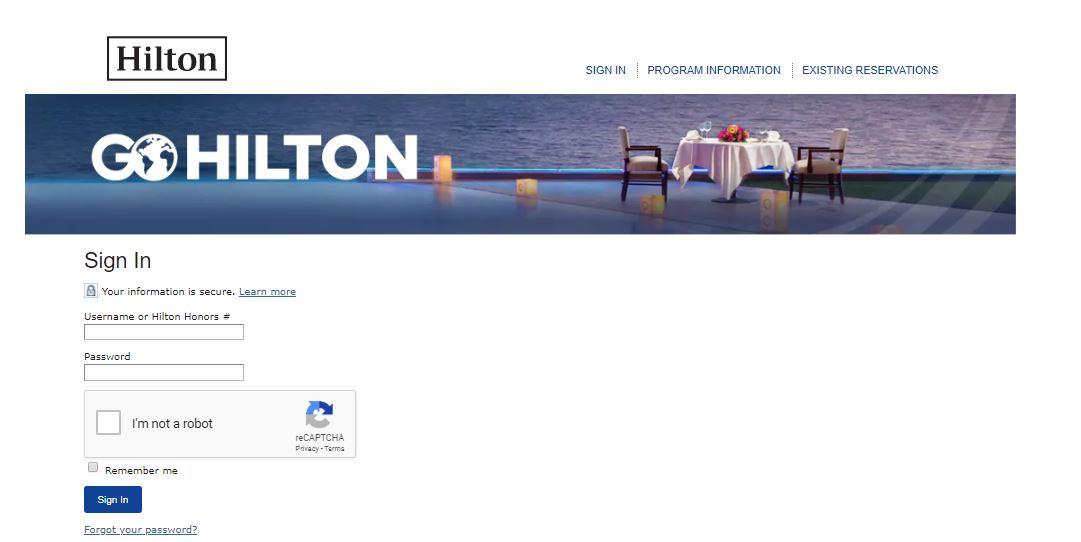 GO Hilton Employee Benefits Login