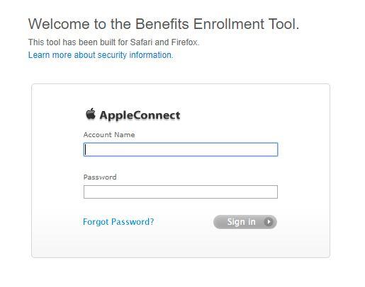Apple Employee Benefits Login
