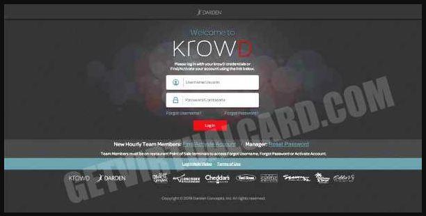 Krowd Darden Employee Benefits Login