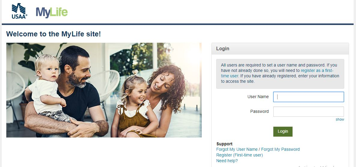 MyLife at USAA Employee Benefits Login