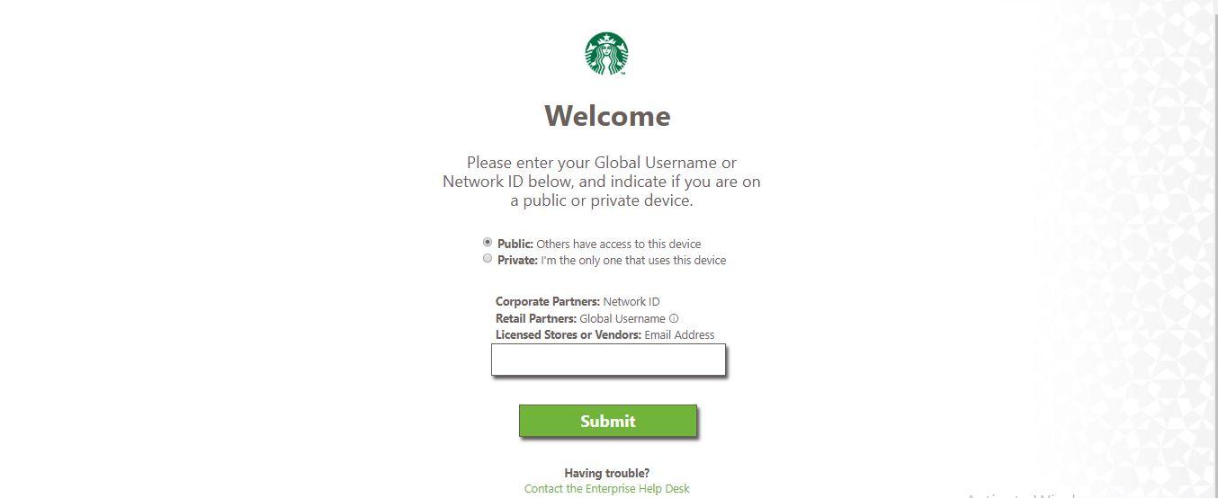 Starbucks Employee Login