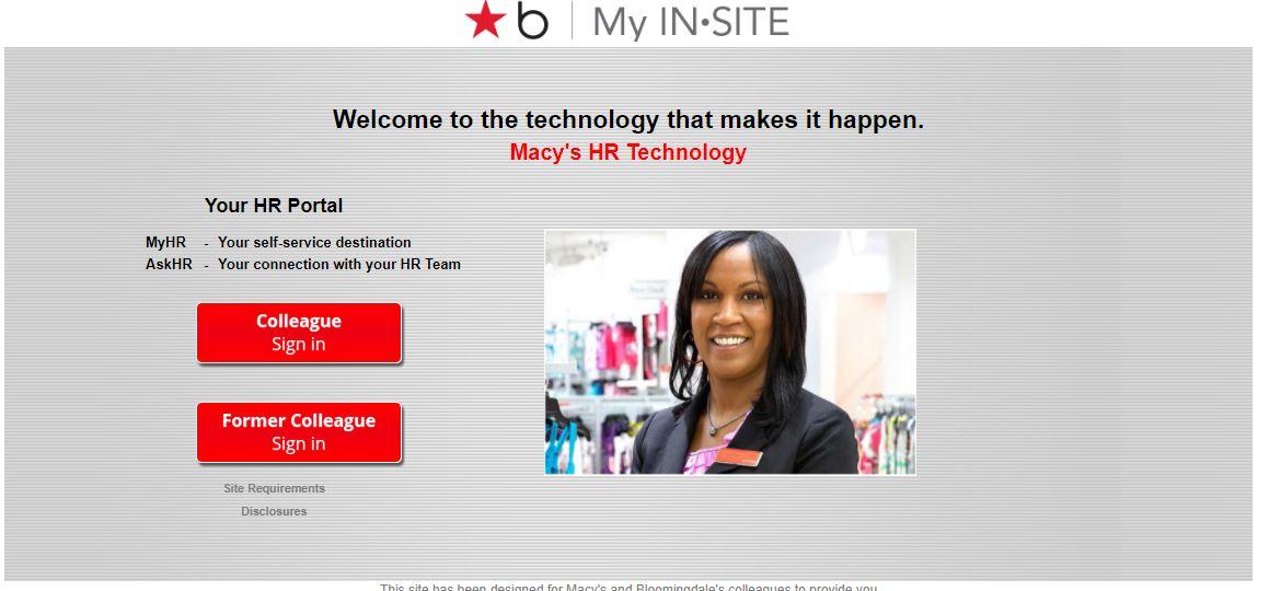 My Insite Macys Employee Benefits